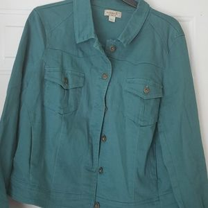 Ladies Green Jean jacket